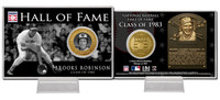 Brooks Robinson Class of 1983 Hall of Fame Bronze Coin Card