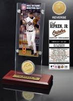 Cal Ripken Jr. Hall of Fame Ticket & Bronze Coin Acrylic Desk Top