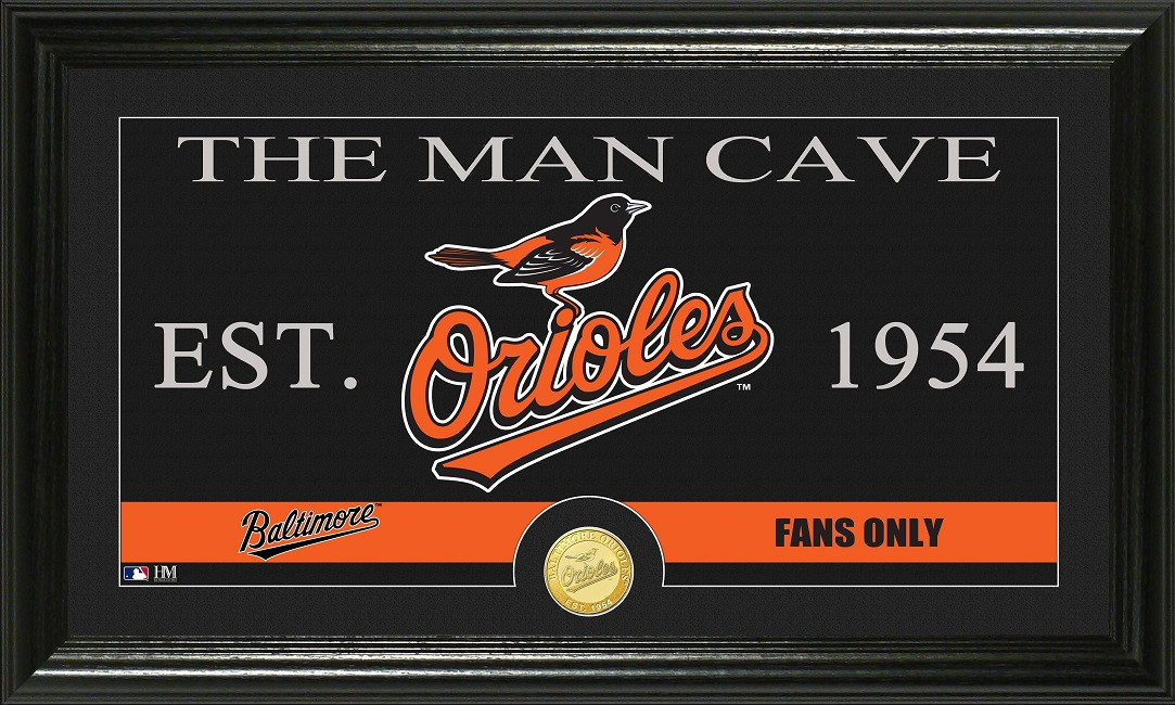 Man Cave Store Baltimore : Baltimore orioles quot the man cave bronze coin panoramic