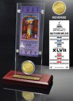 Super Bowl 47  Flip Coin Ticket Acrylic