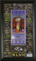Baltimore Ravens Super BowlxLVII Signature Ticket