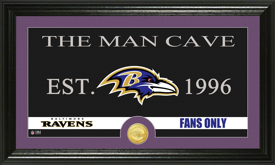 Man Cave Store Baltimore : Baltimore ravens quot man cave bronze coin panoramic photo mint