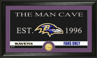 Baltimore Ravens Man Cave Bronze Coin Panoramic Photo Mint