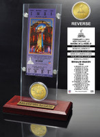 Super Bowl 47 Champions Ticket and Bronze Coin Acrylic