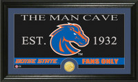 Boise State University Man Cave Bronze Coin Panoramic Photo Mint