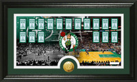 Boston Celtics Tradition Minted Coin Pano Photo Mint