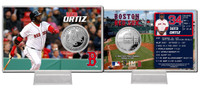 David Ortiz Silver Coin Card