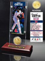 David Ortiz Ticket & Bronze Coin Desk Top Acrylic