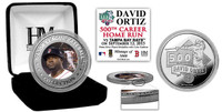 David Ortiz 500th Career Home Run Silver Color Coin