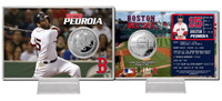 Dustin Pedroia Silver Coin Card