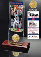 Dustin Pedroia Ticket & Minted Coin Acrylic Desk Top