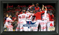 Boston Red Sox 2013 World Series Champions Celebration Signature Field
