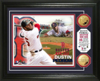 Dustin Pedroia Gold Coin Photo Mint