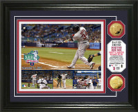 David Ortiz 500th Career Home Run Gold Coin Photo Mint