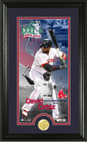 David Ortiz 500th Career Home Run Supreme Bronze Coin Panoramic Photo Mint
