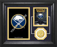 Buffalo Sabres Fan Memories Bronze Coin Desktop Photo Mint
