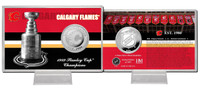 Calgary Flames Stanley Cup History Silver Coin Card