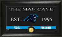 Carolina Panthers Man Cave Bronze Coin Panoramic Photo Mint