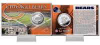 Chicago Bears Silver Coin Card