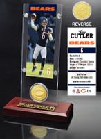 Jay Cutler Ticket & Bronze Coin Acrylic Desk Top