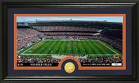 Chicago Bears Stadium Bronze Coin Panoramic Photo Mint