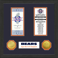 Chicago Bears  SB Championship Ticket Collection