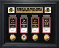 *Chicago Blackhawks 2015 Stanley Cup Champions Deluxe Gold Coin & Ticket Collection