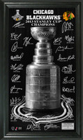 Chicago Blackhawks 2013 Stanley Cup Champions Signature Pano