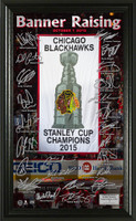*Chicago Blackhawks 2015 Stanley Cup Champions Banner Raising Signature Pano