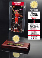 Derrick Rose Ticket and Bronze Coin Desktop Acrylic