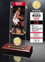 Joakim Noah Ticket & Bronze Coin Acrylic Desk Top