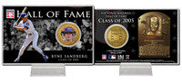 Ryne Sandberg Class of 2005 Hall of Fame Bronze Coin Card