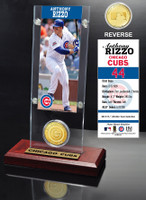 Anthony Rizzo Ticket & Bronze Coin Acrylic Desk Top