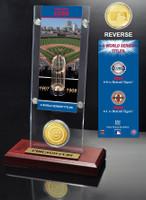 Chicago Cubs World Series Ticket & Bronze Coin Acrylic Desktop