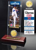 Jon Lester Ticket & Bronze Coin Acrylic Desk Top