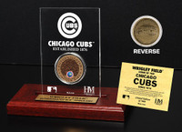 Wrigley Field Infield Dirt Coin Etched Acrylic
