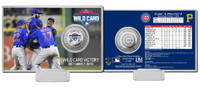 Chicago Cubs 2015 Wild Card Victory Silver Coin Card