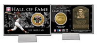 Joe Morgan Hall of Fame Coin Card