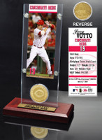 Joey Votto Ticket & Minted Coin Acrylic Desk Top