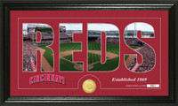 Cincinnati Reds Silhouette Bronze Coin Panoramic Photo Mint