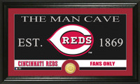 Cincinnati Reds The Man Cave Bronze Coin Panoramic Photo Mint