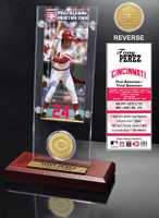 Tony Perez Hall of Fame Ticket & Bronze Coin Acrylic Desk Top