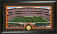 Cleveland Browns Stadium Bronze Coin Panoramic Photo Mint
