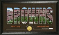 Cleveland Browns Silhouette Bronze Coin Panoramic Photo Mint
