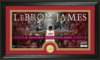LeBron James Return to Cleveland  Minted Coin Panoramic Photo Mint