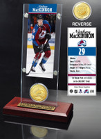 Nathan McKinnon Ticket and Bronze Coin Desktop Acrylic