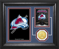 Colorado Avalanche Fan Memories Bronze Coin Desktop Photo Mint