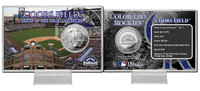 Coors Field Silver Coin Card