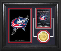 Columbus Blue Jackets Fan Memories Bronze Coin Desktop Photo Mint