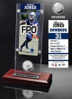 Byron Jones Ticket & Minted Coin Acrylic Desk Top